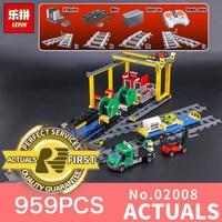 Lepin 02008 959Pcs City Series The Cargo Train Set LegoINGlys 60052 Model RC Building Blocks Bricks