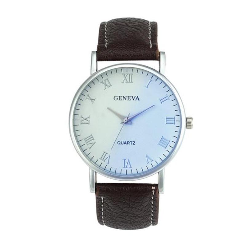 2018 Geneva Men watches Blue Ray Glass Quartz Analog Wrist leather Watch top brand luxury Wrist Watch Sport Gifts Casual F80