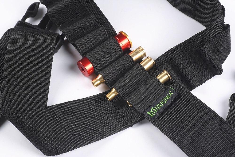 Tactical Shotgun Shell Holder Belt 25Shell Cartridge Bullet Sling For 12GA 20GA