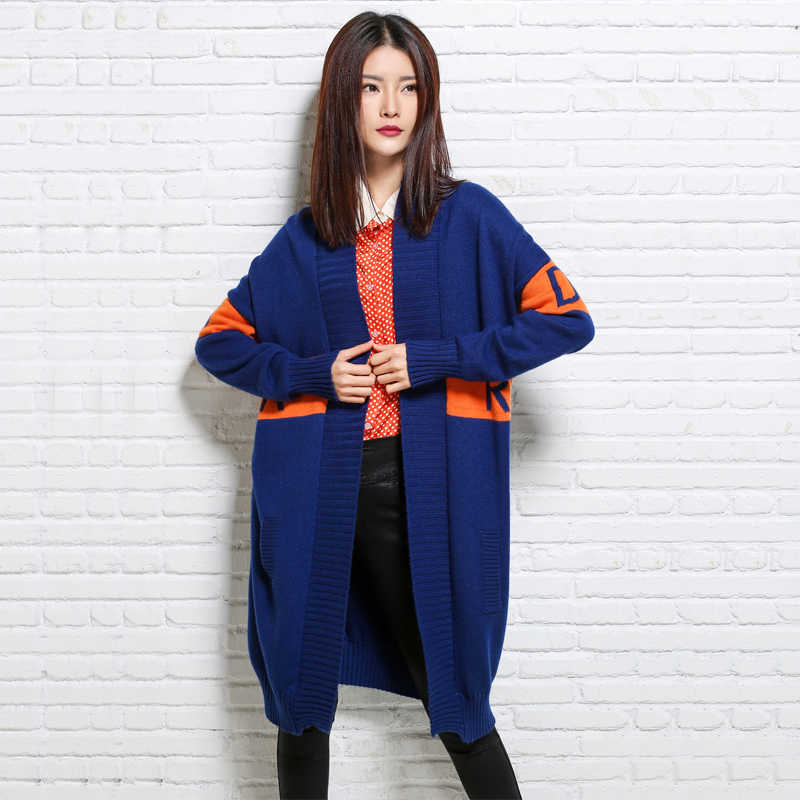 Женский кардиган свитер длинный кардиган 2018 женский модный зимний плотный Кашемир Кардиган вязаный свитер пальто 3 цвета