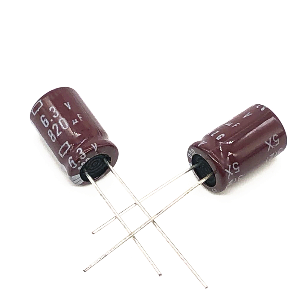 50pcs/lot 6.3V 820UF  8*12 High Frequency Low Impedance Aluminum Electrolytic Capacitor 820uf 6.3v