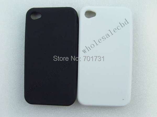 200pcs/lot  Good Quality Smart Bean Silicone rubber back Case for iphone 4 4G 4S