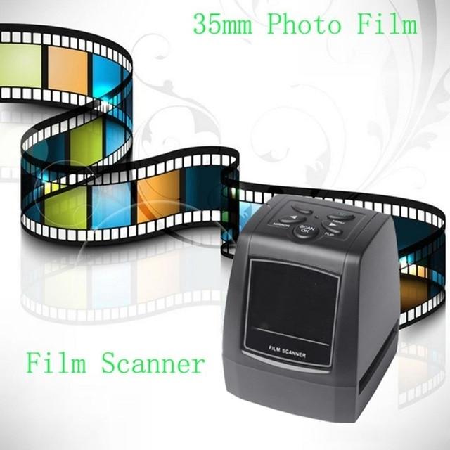 "High Fast Photo Printe Resolution Photo Scanner 35mm/135mm Slide Film Scanner Digital USB Film Converter 2.36"" LCD screen"
