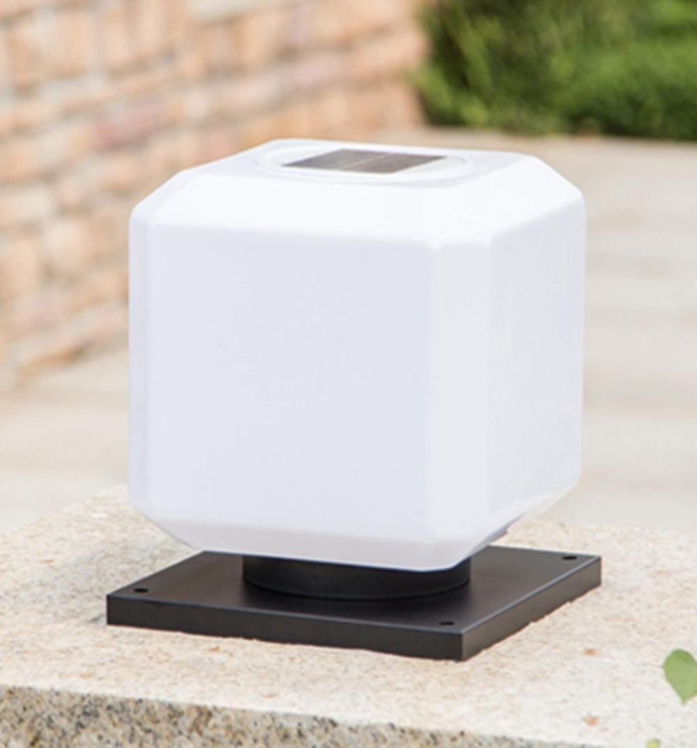 poste de la lmpara principal del led cuadrado impermeable lmpara al aire libre luces de jardn lmpara de pared solar luces so