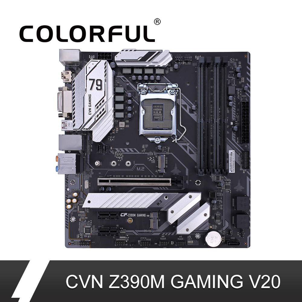 Colorful CVN Z390M GAMING V20 Gaming Motherboard Intel LGA 1151 DDR4 Processor DVI HDMI mATX Mainboard PCI-E 3.0 M.2 For PC(China)