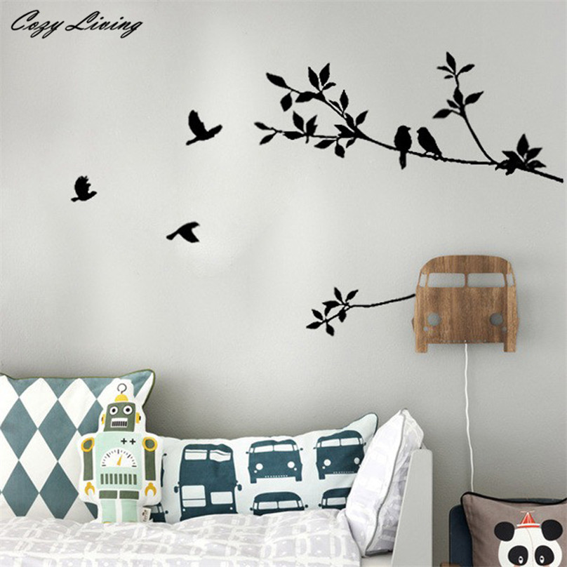 Wall Stickers For Living Room black wall stickers living room promotion-shop for promotional