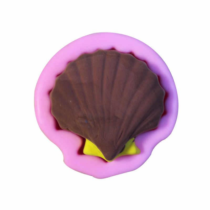 3D форма Морской Раковины Силиконовые формы для торта, формы для выпечки, пасты для Шоколад Конфеты помадка инструменты для тортов кондитерские изделия украшения