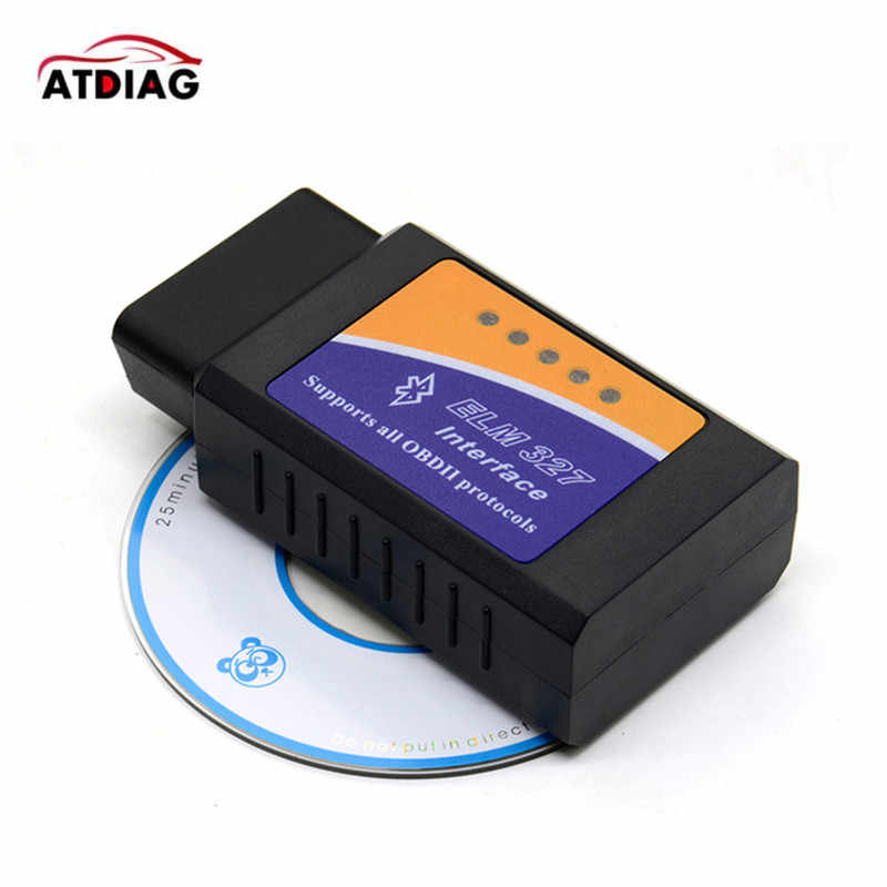 1-20pcs Mini ELM327 Bluetooth OBD2 V2.1 Car Diagnostic Interface ELM 327 OBDII Smart Wireless Scanner