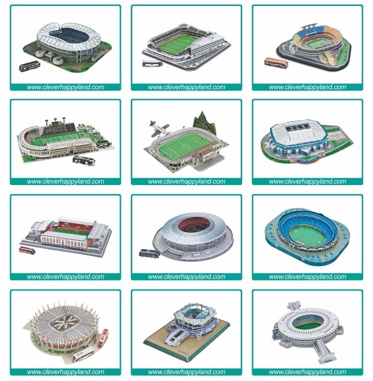 Inteligente & happy modelo 3D puzzle estádio