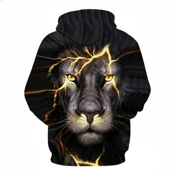 Paisley Lightning Lion 3D Print Cool Hoodies For Men
