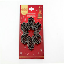 9pcs/set Christmas Snowflake Tree Stainless Steel Cookie Cutter Biscuit Fondant Mold Cake Tools