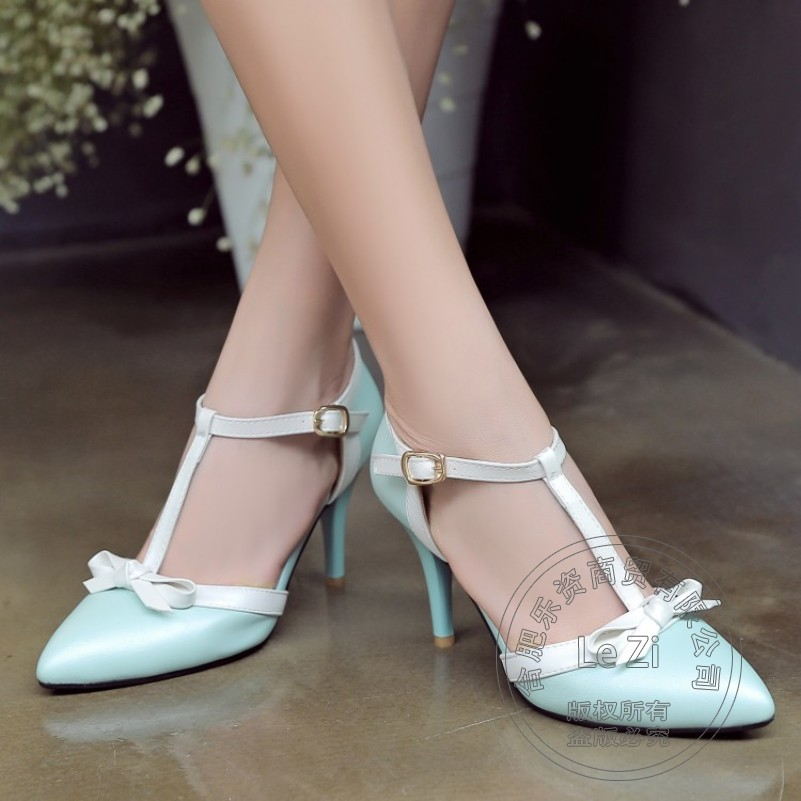 Leisure Closed Toe Pure Color Pu Breathable Ladies Shoes Charm Soft Leather Winkle Picker Stiletto Heels