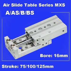 SMC Mesa de diapositivas de aire MXS12-50 guía de precisión Neumático Cilindro de diapositiva