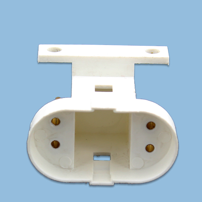 10pcs/lot G32Q Doulbe four-pin lamp holder with clip Ultraviolet light disinfection lamp <font><b>socket</b></font> H-type UV germicidal lamp holder image