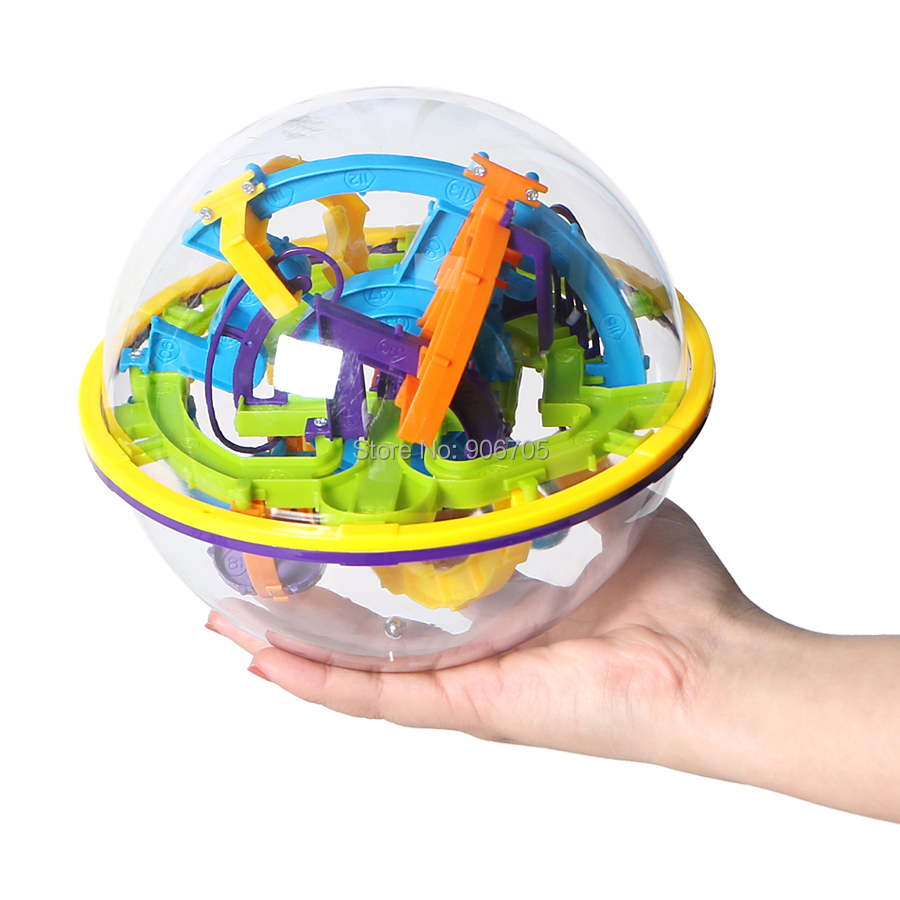 158 Steps 3D Magic Intellect Ball Marble Puzzle Game perplexus magnetic balls IQ Balance toy,Educational classic toys Maze Ball