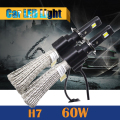 1 Pair 60W H7 LED Bulb 6400LM 6500K Cool White Conversion Car Motorcycle Headlight Fog Daytime Running Lamp DRL