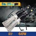 1 Par 60 W LED Lâmpada H7 6400LM 6500 K Cool White Conversão Motocicleta Farol Do Carro Nevoeiro luz de Circulação Diurna DRL