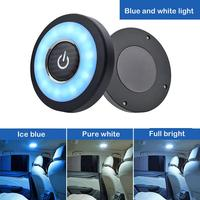 Датчик касания с регулируемой яркостью светодиодный под кабинет свет, usb-зарядка батарейках светодиодный шкафы синие огни для шкаф для одеж...