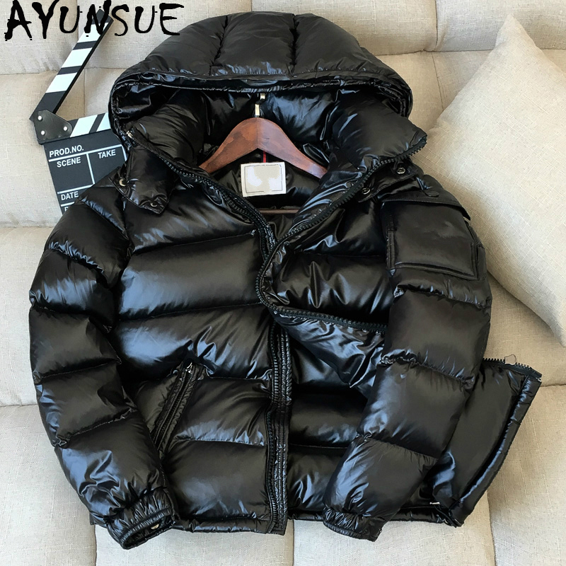 AYUNSUE Men's Down Jacket Winter Duck Down Jacket Men Hooded Short Coat For Men Warm Puffer Jackets Doudoune Homme Y9064 KJ2464