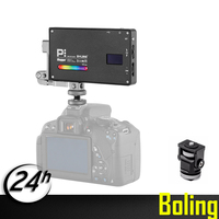 NEW Boling BL P1 RGB LED Video Light Dimmable Full Color Studio Vlog Photography Lighting with 360 Bracket for DSLR Camera
