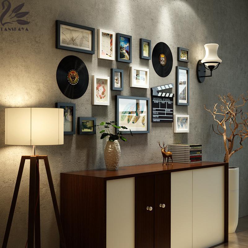 limitada por tiempo limitado moldura sencilla de madera maciza pared moderna combinacin de imgenes de