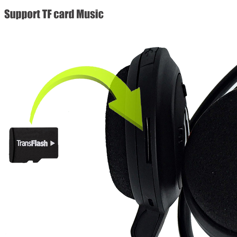 ФОТО Mini Wireless Sports Stereo Bluetooth Headphones Headset Earphone Headband  Foldable FM TF mp3 play handsfree calls for phone
