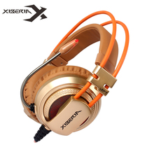 Finest Computer Gaming Headset Headband with Microphone Mic XIBERIA V10Heavy Bass Stereo Game Headphone with Light for PC Gamer