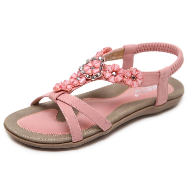 HTB1Iplua1H2gK0jSZJnq6yT1FXah Summer Shoes Women Bohemia Ethnic Flip Flops Soft Flat Sandals Woman Casual Comfortable Plus Size Wedge Sandals 35-45