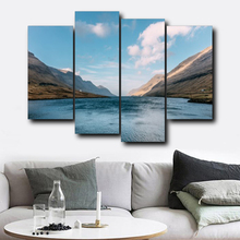 Laeacco Nordic River Mountain Posters and Prints Wall Artwork Modern Canvas Painting Living Room Bedroom Home Decoration