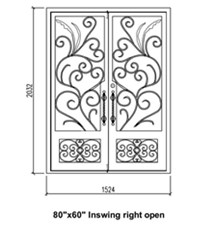 Iron Door Frame Design Exterior Metal Doors For Sale Wrought Iron Double Security Doors