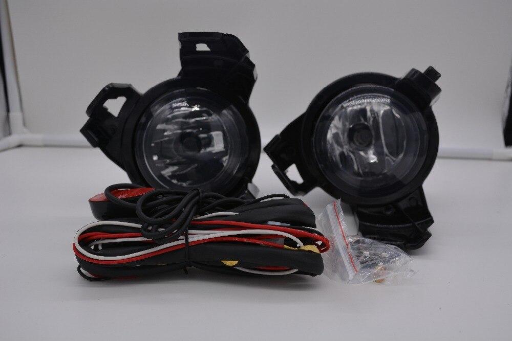 eOsuns гало противотуманные фары с проводами жгут проводов, выключатель, противотуманная фара доме и рамкой полный комплект для Nissan NV200 EVALIA 2011