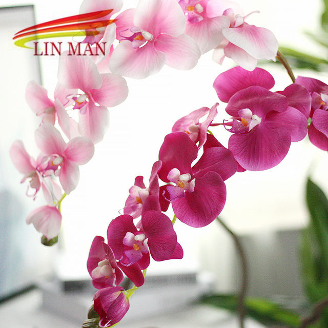 Online shop for party silk orchid artificial flower heads image junglespirit