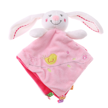 все цены на 25cm  Appease Towel Rabbit Baby Plush Doll Toy Infant appease Calm Doll Education Baby Care Product toy for childen gift онлайн