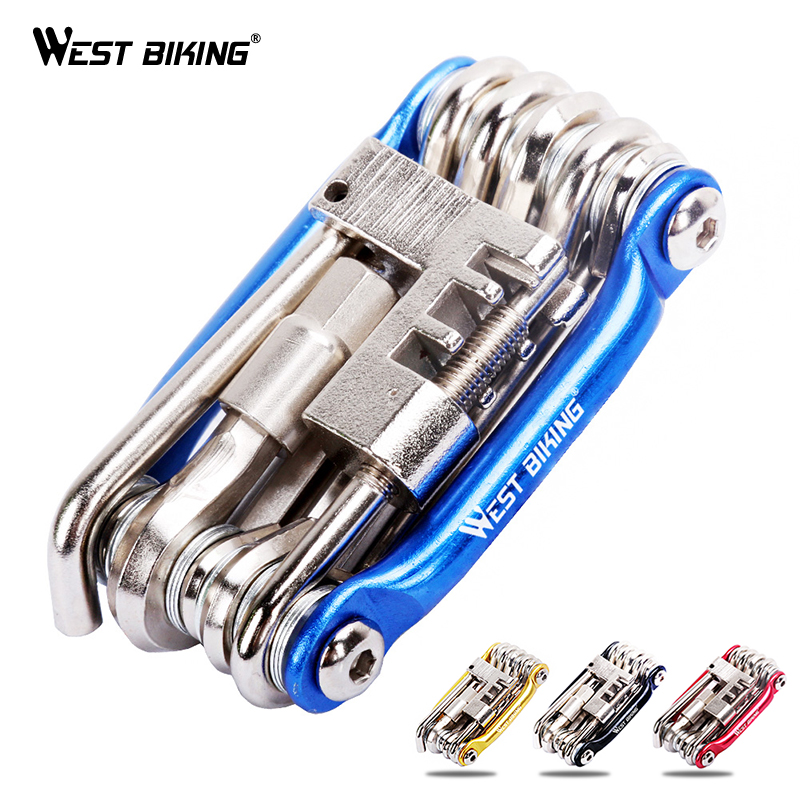 WEST BIKING Mini Repair Tool 11 in 1 Bicycle Moutain Road Bike Tool Cycling Multi Repair Tools Kit Wrench Bike Repair Tools