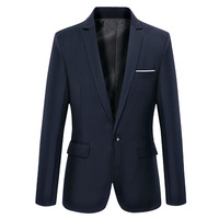 2017 Solid Causal Suit Men Blazers Plus S 6XL Male Blazer Long Sleeve Slim High Quality