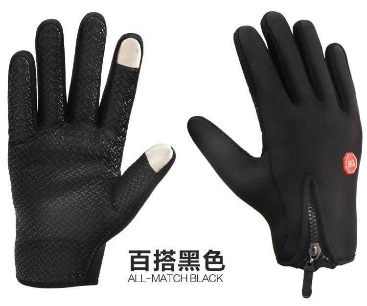 Anti-skid Outdoor Espesar caliente del invierno de Esquí Guantes guantes de Pant