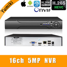 Камера видеонаблюдения H.265 +/H.264, 16 каналов * 5 МП, NVR, сетевая камера Vidoe с интеллектуальным анализом, 1080P/720P, IP, с кабелем SATA, ONVIF CMS XMEYE