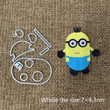 New Design Craft Metal Cutting Dies cut die lovely Little yellow boy Scrapbooking Album DIY Paper Card Craft Embossing Die Cuts(China)