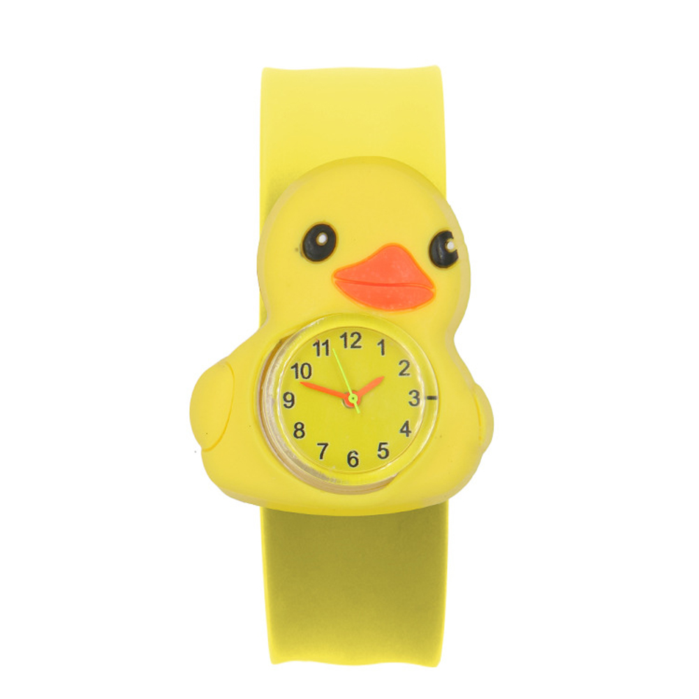 Multi-color 3D Annimals Cartoon Pattern Interesting Children Watch Sweet Durable Wrist Silicone Tape Toys Patted Table Student