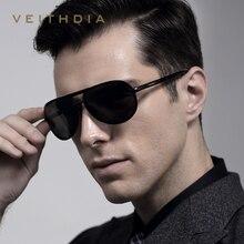 Veithdia Hombres de la Marca de gafas de Sol Polarizadas Lente de Espejo De Aluminio Magnesio Conducción Gafas Accesorios Gafas de Sol Para Los Hombres V23