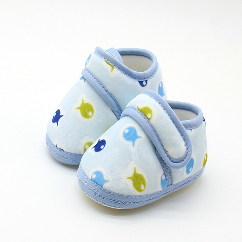 Lovely Cute Baby Girl Shoes 0-18 Months Newborn Baby Shoes Cotton Print Kids Toddler Crib Shoes Soft Soled First Walkers