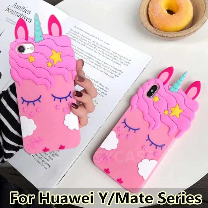 SYCASE śliczne Unicorn rzęs koń powłoki dla Huawei Mate 9 mate 10 lite Y5 Y6 etui All-inclusive silikonowe anti-knock pokrywa kobiety