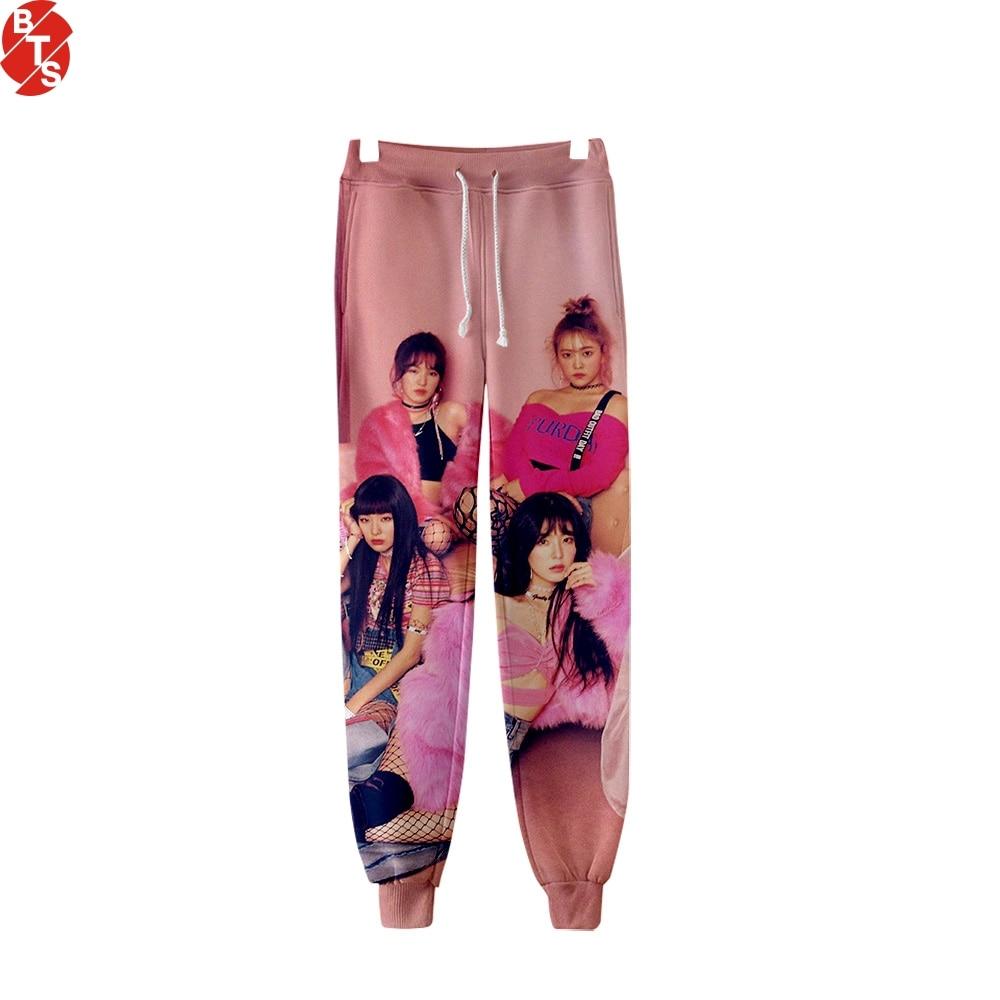 Red Velvet 3D Printed Jogger Pants Women/Men Fashion Streetwear Sweatpants 2019 Hot Sale Casual Long Pants