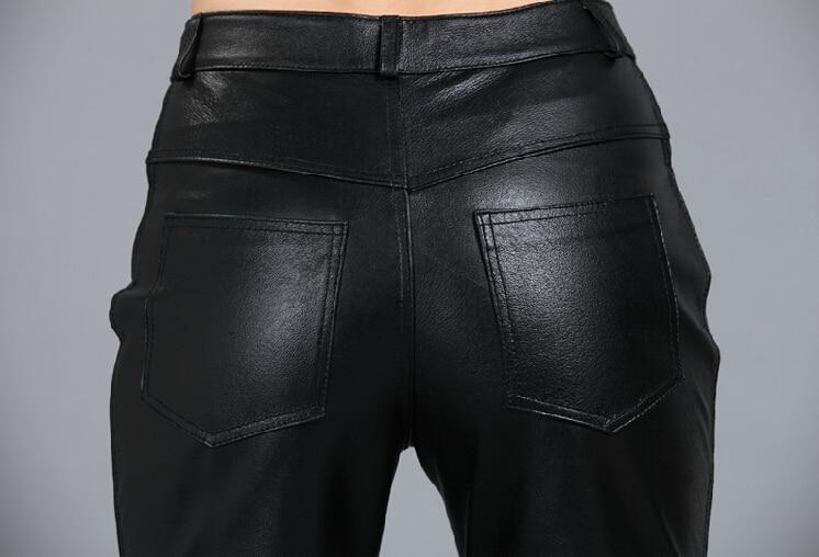 Traje Oveja 2019 Piel Las Cuero Negro Moda La Genuino Apretado Casuales Cadera Pantalones De Cantante Mujeres Trajes Paquete 5qwq0xCr68