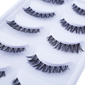 New Natural Fashion Long Thick Cross 5 Pairs False Eyelashes Eye Lashes Extension For Drop Shipping