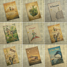 Vintage Poster Fairy tale The Little Prince kraft paper poster retro nostalgia 42x30CM Decorative Wall Sticker