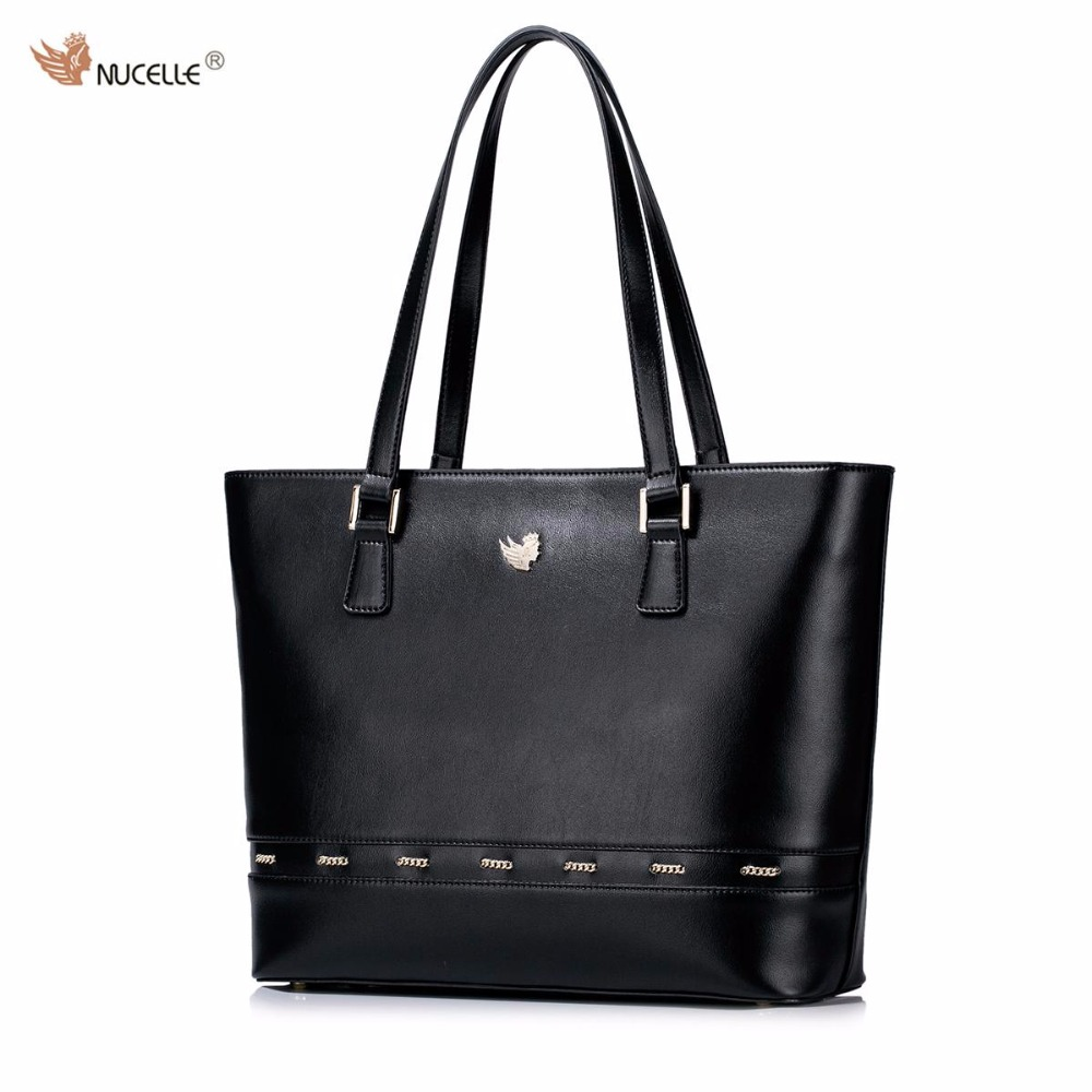 NUCELLE Brand New Design Fashion Chains Stringing High Quality PU Leather Women Lady Handbag Shoulder Tote Shopping Bags