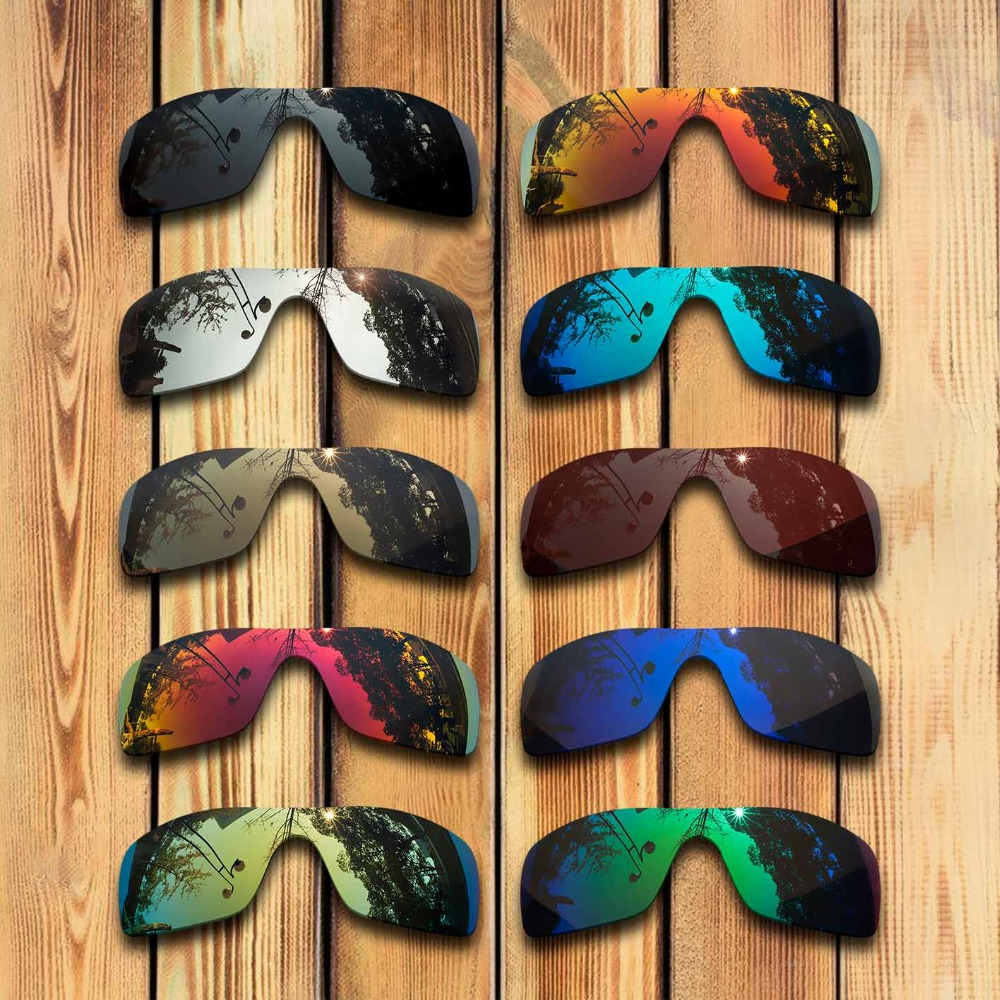 2 Pieces 100% Precisely Cut Polarized Replacement Lenses For Oakley Batwolf Sunglass - Many Colors