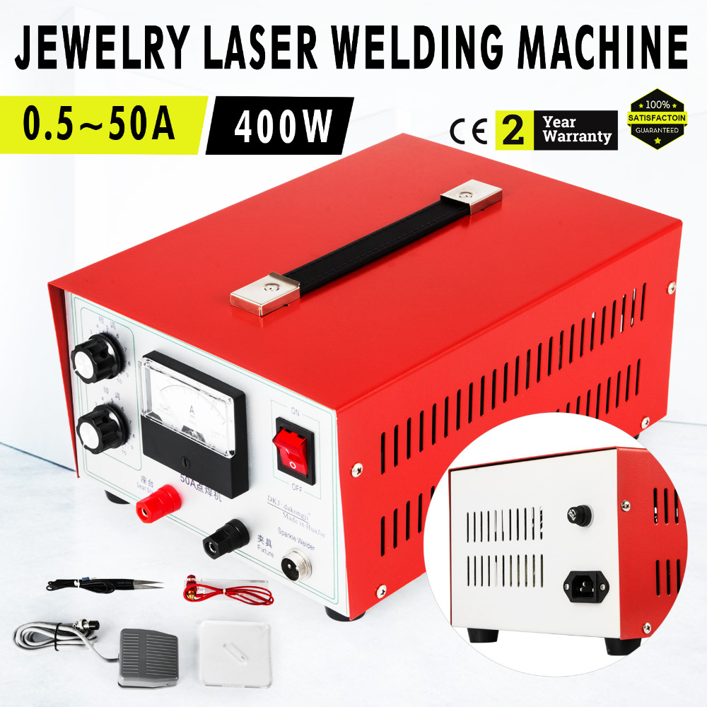 Pulse Sparkle Spot Welder 400W Jewelry Welding Machine DX-50A