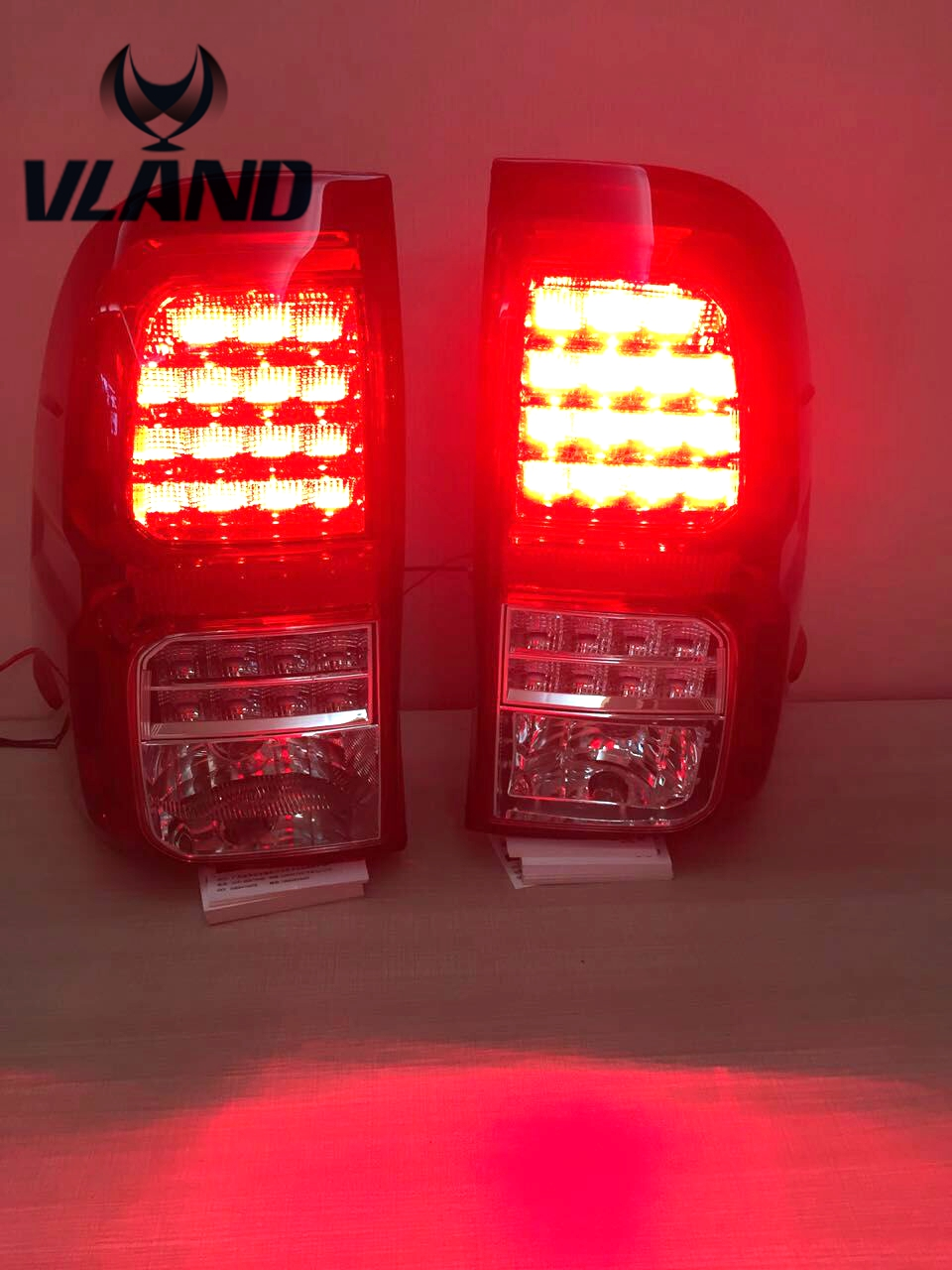 Free shipping vland Auto car styling for Toyotas vigo taillights 2016 Hilux taillamp Revo rear lamp LED lights 2pc free shipping hilux revo racing side stripe graphic vinyl sticker for toyota hilux decals